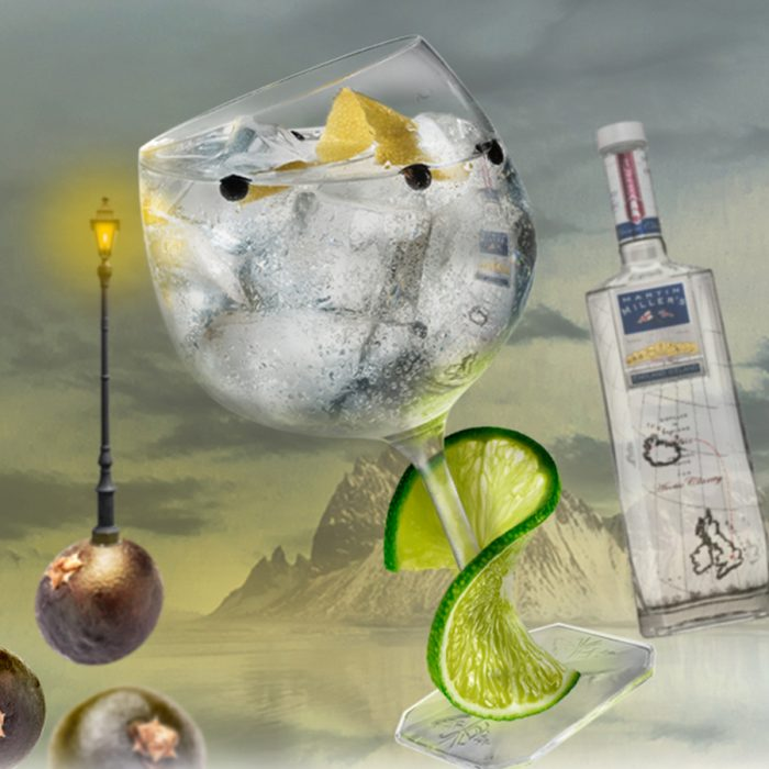 Gin & Tonic with Lime and Juniper