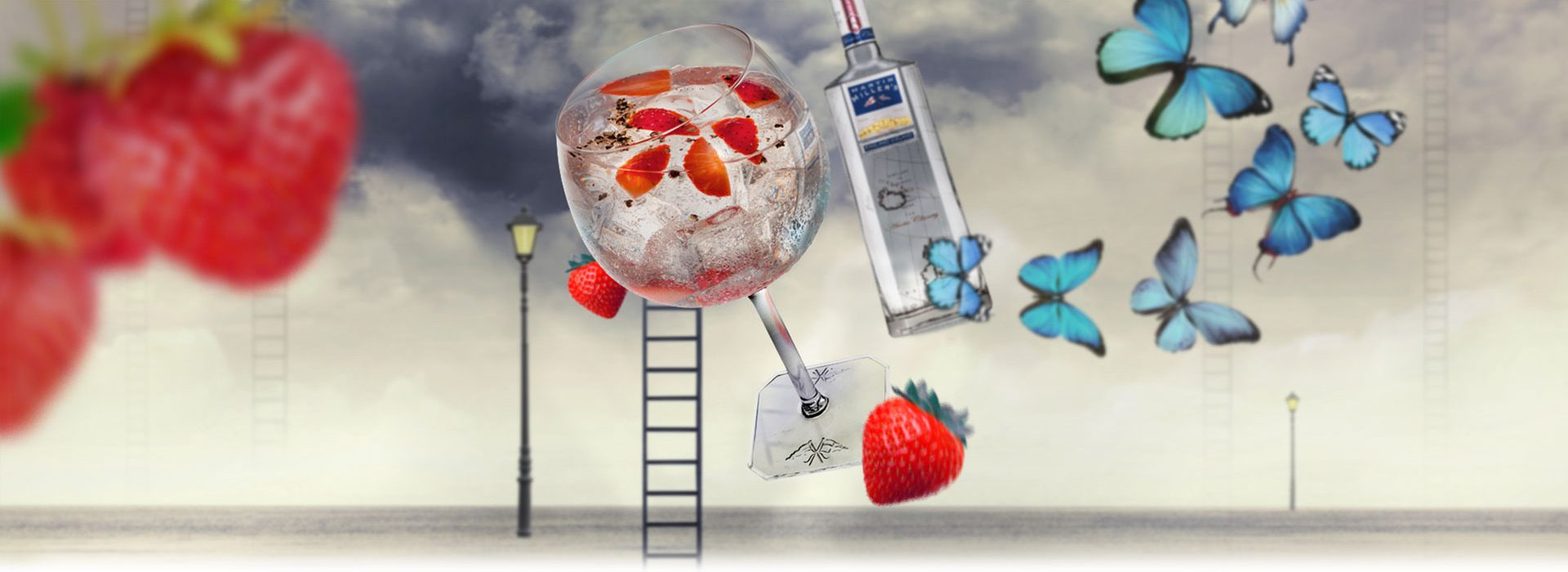 Gin & Tonic with Strawberry and Black Pepper